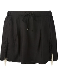 Toga Pulla Fringe Detail Mini Skirt Black