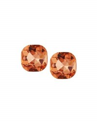 Emily And Ashley Cushion Cut Crystal Stud Earrings Pink