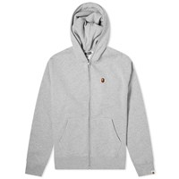 A Bathing Ape Relaxed One Point Zip Hoody Grey