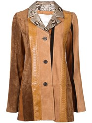Adam By Adam Lippes Leather Coat Brown