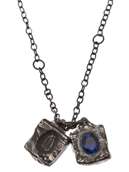 Henson Carved Cube Necklace Metallic