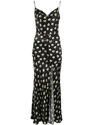 Bec And Bridge Belted Floral Print Maxi Dress Black