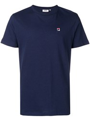 Fila Embroidered Logo T Shirt Blue