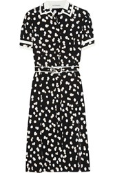 Altuzarra Ella Belted Fil Coupe Dress Black