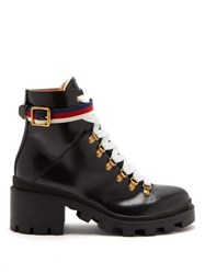 Gucci Trip Leather Boots Black
