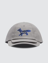 Maison Kitsune Ader Error X Double Brim Fox Head Cap Grey