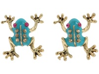 Betsey Johnson Frog Stud Earrings Blue Earring