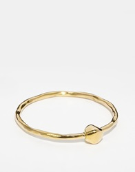 Mirabelle Bangle With Brass Pebble