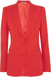 Bottega Veneta Wool Gabardine Blazer Red