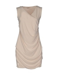 Phard Short Dresses Beige