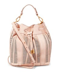 Brian Atwood Shoulder Leather Tote Sand