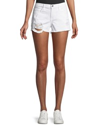 Etienne Marcel Distressed Denim Shorts White