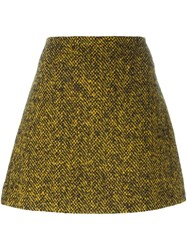 Marni Herringbone A Line Skirt Black