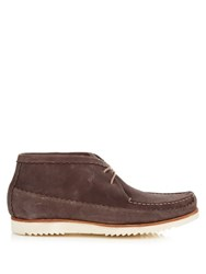 Grenson Oliver Nubuck Moccasin Boots Brown