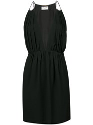 Saint Laurent Classic Fitted Dress Women Acetate Viscose 36 Black