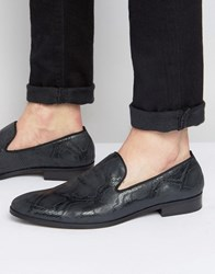Dune Slipper Loafers In Black Black