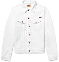 Nudie Jeans Billy Slim Fit Distressed Denim Jacket White