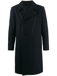 J. Lindeberg J.Lindeberg Quilted Back Trench Coat Blue