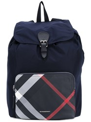 Burberry House Check Backpack Blue