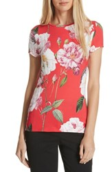 Ted Baker London Daleyza Iguazu Fitted Tee Mid Red