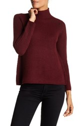 Research And Design Mock Turtleneck A Line Sweater Petite Red