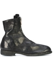 Guidi Zip Detail Boots Horse Leather Leather Black