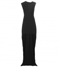 Saint Laurent Crepe Gown Black