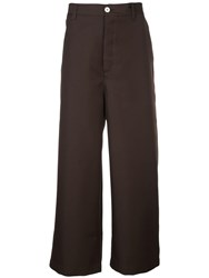 Sunnei Wide Leg Chinos Brown