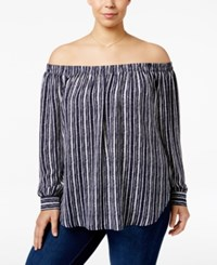 American Rag Trendy Plus Size Off The Shoulder Top Only At Macy's Eclispe Combo