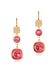 Rebecca Candy 18 Kt Yellow Gold Over Bronze Drop Earrings