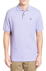 Men's Patagonia 'Fitz Roy Logo' Organic Cotton Pique Polo Ploy Purple
