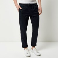 River Island Mens Navy Pull On Trousers