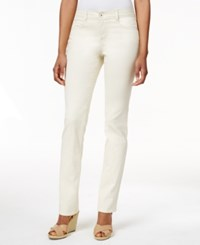 Styleandco. Style And Co. Petite Slim Leg Tummy Control Jeans Vintage Pearl