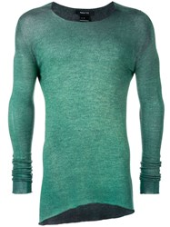 Avant Toi Long Sleeve Fitted Sweater Green
