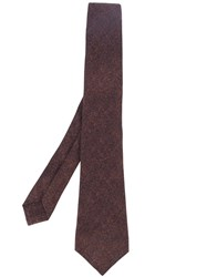 Kiton Silk Tie Brown