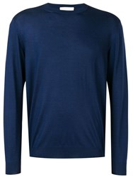Cruciani Round Neck Jumper Blue