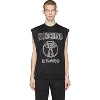 Moschino Black Logo Sleeveless T Shirt