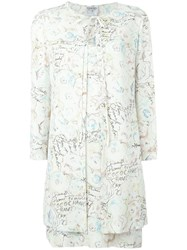 Chanel Vintage Two Piece Printed Suit Nude And Neutrals