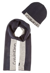 Calvin Klein Jeans Set Scarf Navy Dark Blue