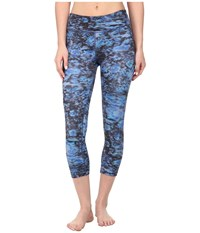 Beyond Yoga Capri Legging Night Lily Women's Capri Blue