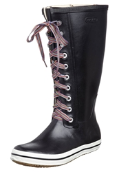 Viking Retro W Striped Laces Wellies Black