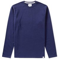 Norse Projects Long Sleeve James Dry Cotton Tee Blue