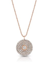 Dominique Cohen 18K Rose Gold Mosaic Diamond Pendant Necklace Large