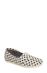 Toms Women's Polka Dot Alpargata Slip On Natural