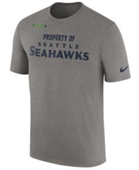 Nike Men's Seattle Seahawks Property Of Facility T Shirt Heather Gray