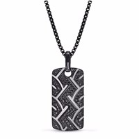Lmj American Muscle Tag Black Silver