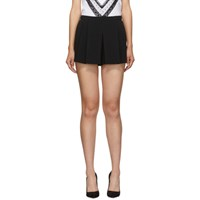 Red Valentino Black Pleated Shorts