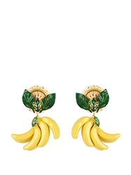 Dolce And Gabbana Cerimonia Crystal Embellished Earrings Yellow