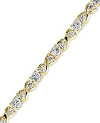 Giani Bernini Cubic Zirconia Infinity Tennis Bracelet In 18K Gold Plated Sterling Silver Only At Macy's