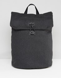 Asos Backpack In Charcoal Melton Charcoal Grey